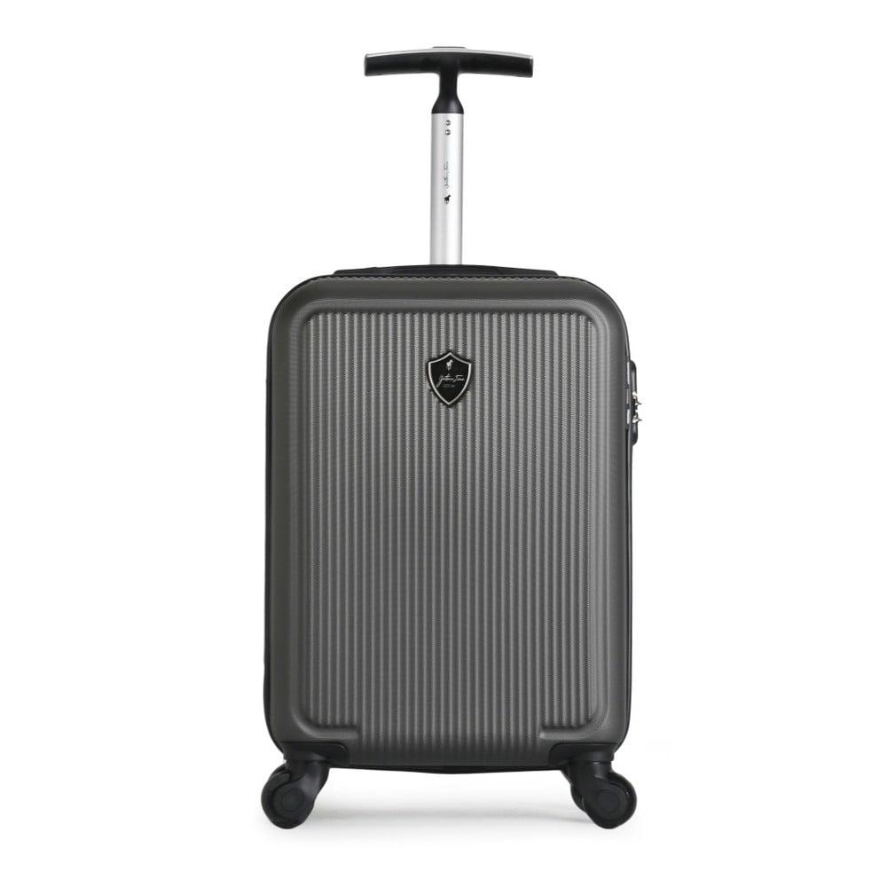Antracitový cestovní kufr na kolečkách GENTLEMAN FARMER Marbo Valise Cabine, 37 l