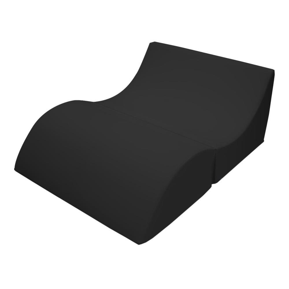Černé variabilní lehátko/stolek 13Casa Cleo