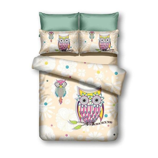 Povlečení z mikrovlákna DecoKing Owls Summerstory, 200x220cm