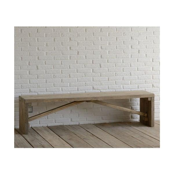 Lavice z recyklovaného dřeva Old Wood, 45x180 cm