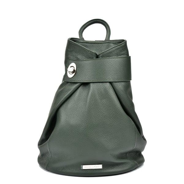 Zielony skórzany plecak Anna Luchini