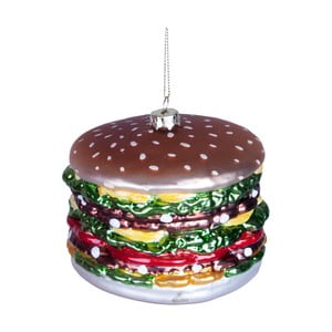 Vánoční závěsná ozdoba ze skla Butlers Hamburger