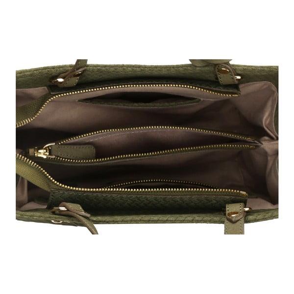 Zelená kožená kabelka Beverly Hills Polo Club Dona