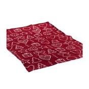 Červený ubrus Dakls Festive Gift, 60 x 60 cm