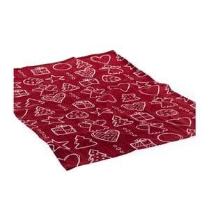 Červený ubrus Dakls Festive Gift