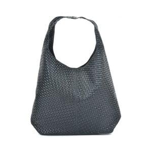 Černá kožená kabelka Mangotti Bags Abelie