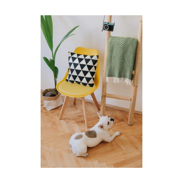 Žlutá židle s bukovými nohami loomi.design Lumos