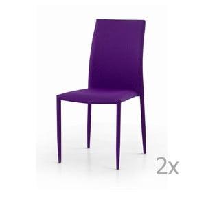 Sada 2 fialových jídelních židlí Castagnetti Fabi