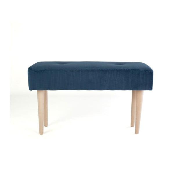 Bükkfa pad kék bársony kárpittal - Surdic