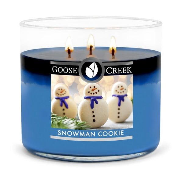 Świeczka zapachowa w szklanym pojemniku Goose Creek Snowman Cookie, 35 godz. palenia