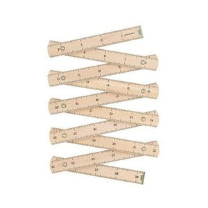 Skládací dřevěný metr Kikkerland, délka 1 m