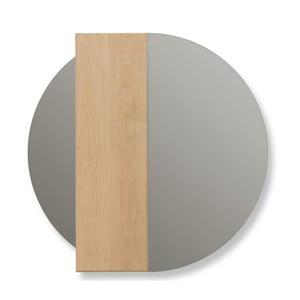 Nástěnné zrcadlo z dubového dřeva HARTÔ Charlotte, Ø 60 cm