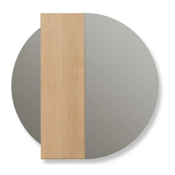 Charlotte tölgyfa fali tükör, Ø 60 cm - HARTÔ