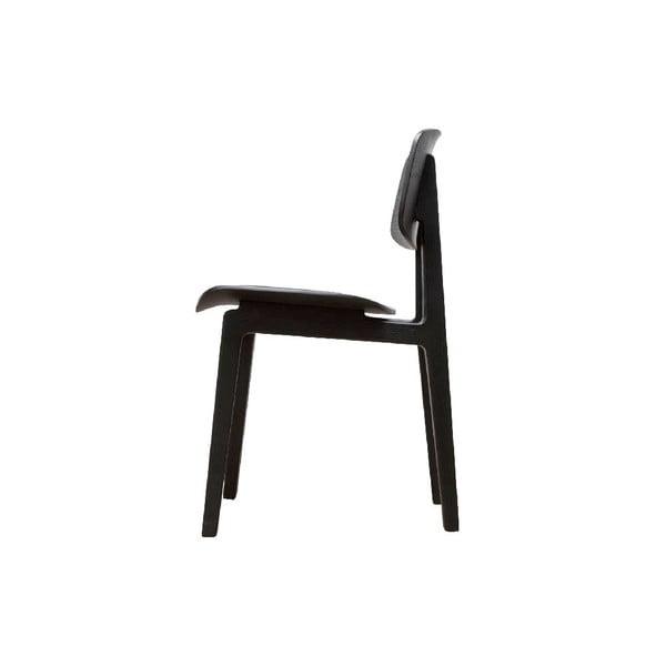 Černá jídelní židle z dubového dřeva NORR11 NY11