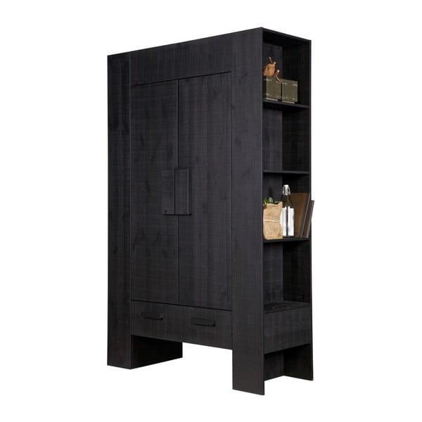 Černá komoda z borovicového dřeva De Eekhorn Hidde