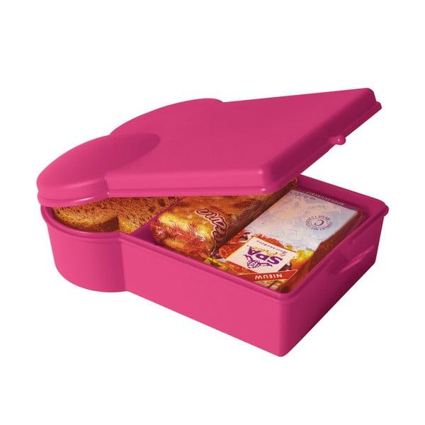 Svačinový box, tmavě růžový