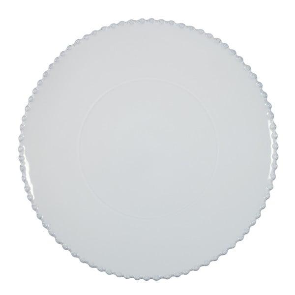 Biely kameninový servírovací tanier Costa Nova Pearl, ⌀33 cm