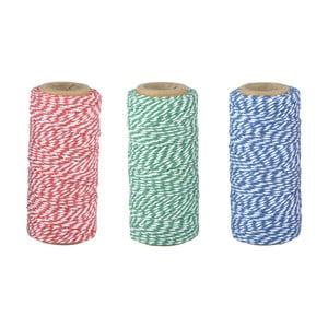 Sada 3 bavlněných zahradních šňůr Esschert Design Colors