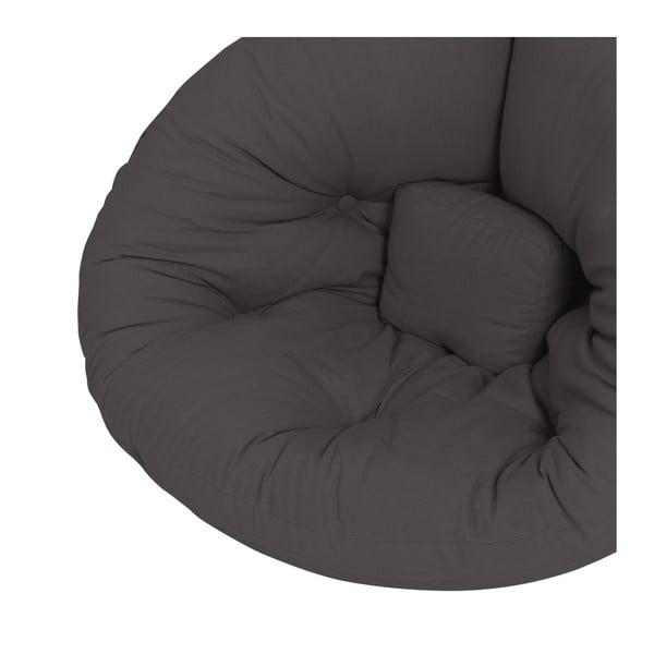 Tmavě šedé dětské rozkládací křesílko Karup Mini Nido