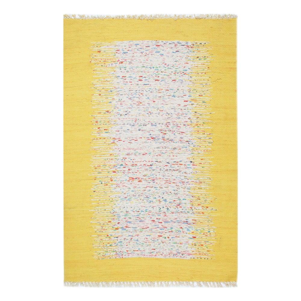 Žlutý koberec Eco Rugs Yolk, 120x180cm
