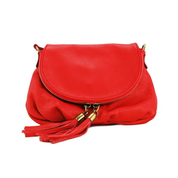 Kožená kabelka Clementis Rosso