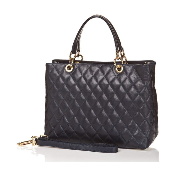 Kožená kabelka Ema, tmavě modrá