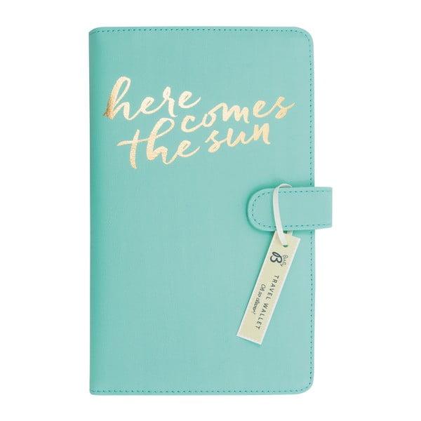 Svetlozelená cestovná peňaženka Busy B New Fashion
