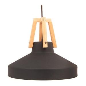 Černé stropní světlo Loft You Work, 44 cm