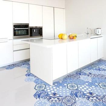 Set 10 autocolante pentru podea Ambiance Hexagons Aurkena 20 x 18 cm