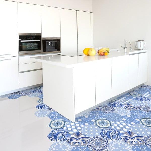 Set 10 autocolante pentru podea Ambiance Hexagons Aurkena, 20 x 18 cm