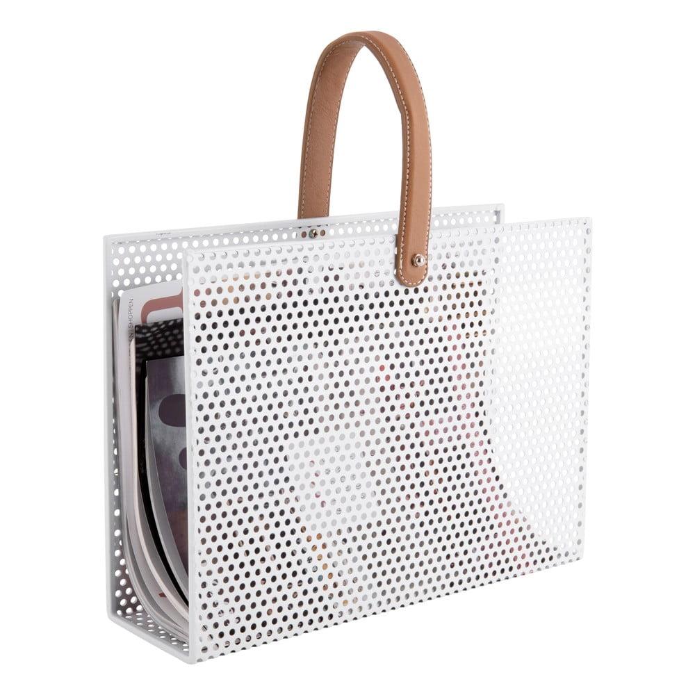 Produktové foto Bílý kovový držák na časopisy PT LIVING Perky