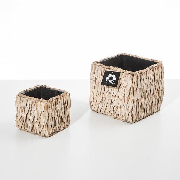 Set 2 květináčů Natural Cube