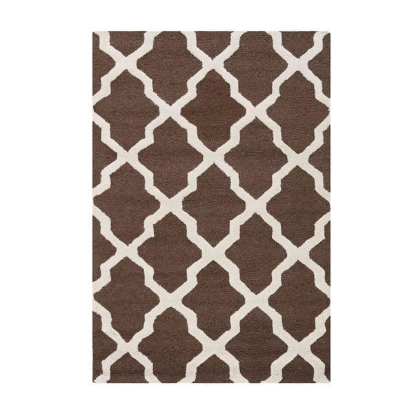 Hnědý vlněný koberec Safavieh Ava, 121x182cm