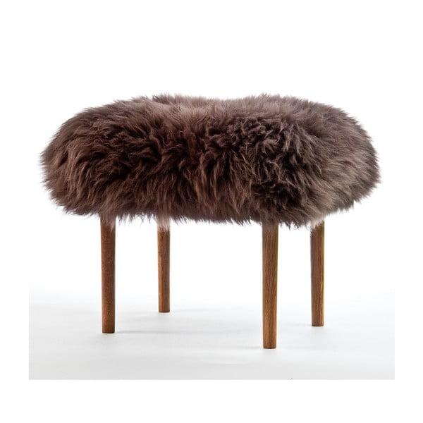 Stolička z ovčí kůže Ceri Mink