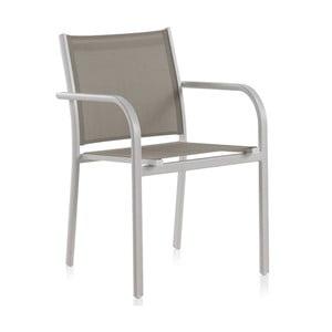 Sada 2 bílých zahradních židlí se zeleným sedákem Geese Kiho