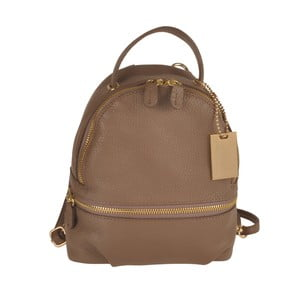 Šedohnědý kožený batoh Matilde Costa Gent