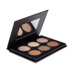 Profesionální paleta 6 barev pro rozjasnění a konturování obličeje Bellapierre Black