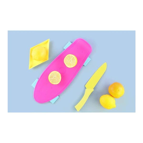 Krájecí prkénko Skate Pink