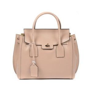 Pudrově růžová kožená kabelka Luisa Vannini Benigna