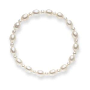 Perlový náramek Nova Pearls Copenhagen Chantal, délka 19 cm