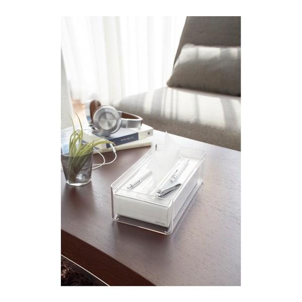 Transparentní box na papírové kapesníky YAMAZAKI Lux