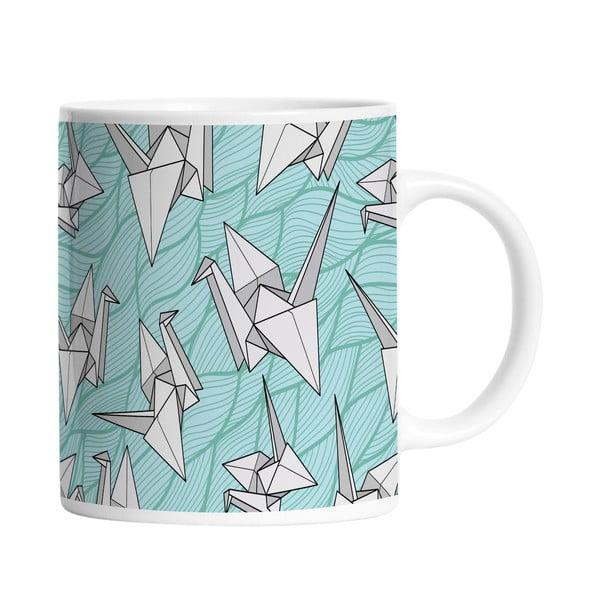 Keramický hrnek Bird Origami, 330 ml
