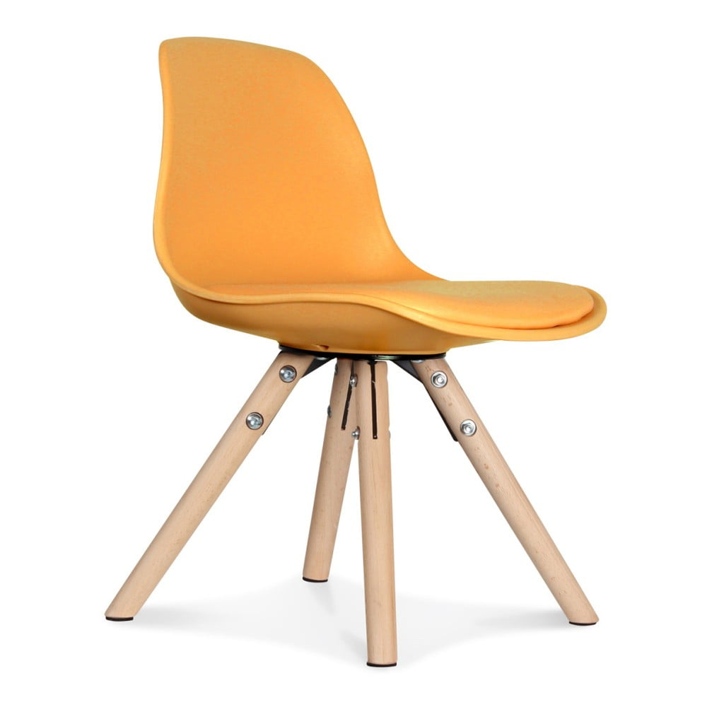 Sada 2 oranžových židlí Opjet Paris Scandinave Chaise