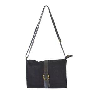 Černá kožená kabelka Chicca Borse Nuena