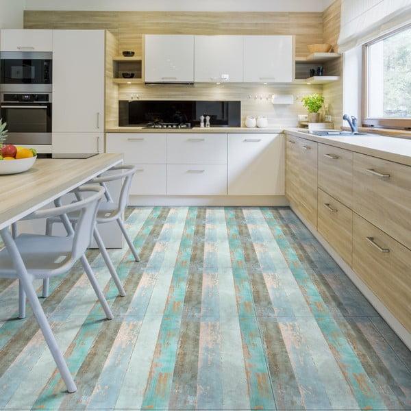 Autocolant de podea Ambiance Parquet Floor Cote dOpale, 90 x 60 cm