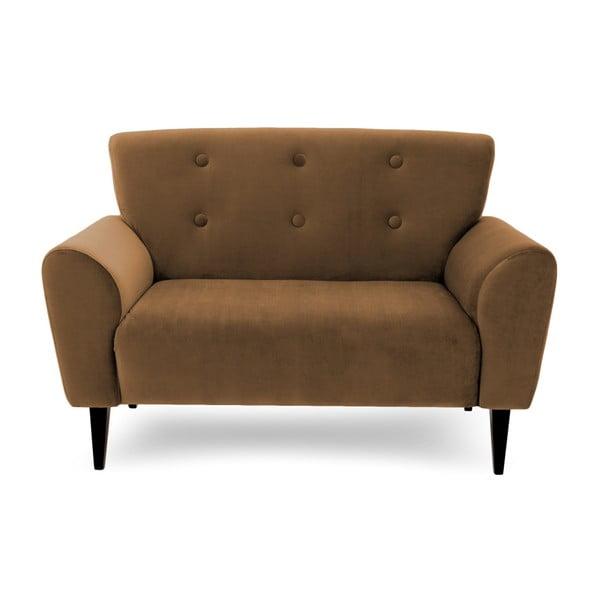 Canapea cu 2 locuri Vivonita Kiara, maro tabac