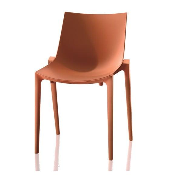 Oranžová židle Magis Zartan