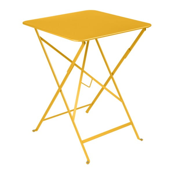 Žlutý zahradní stolek Fermob Bistro, 57 x 57 cm