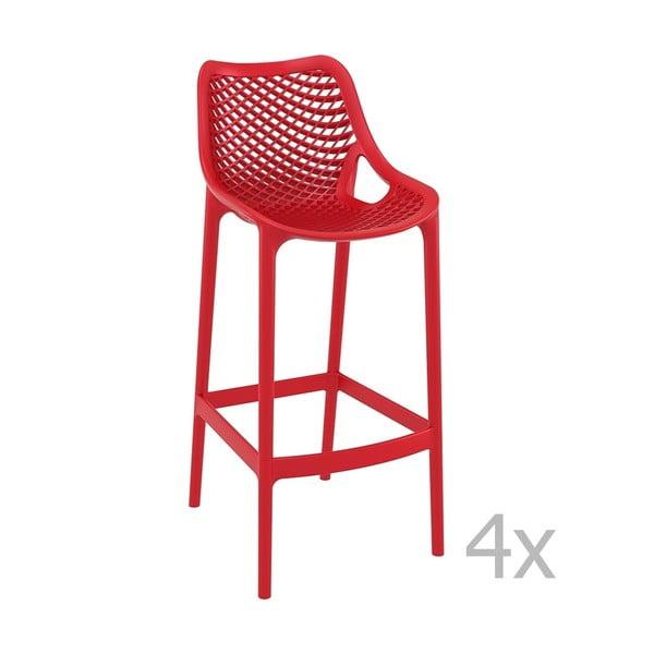 Grid Simple piros bárszék, magasság 75 cm, 4 darab - Resol
