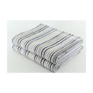 Set 2 osušek Light Grey, 70x140 cm